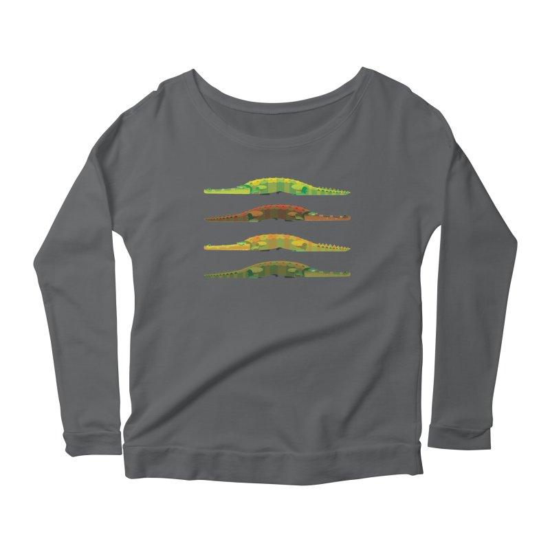 Crocs Strolling/ tees and sweaters Women's Scoop Neck Longsleeve T-Shirt by CDFBstuff