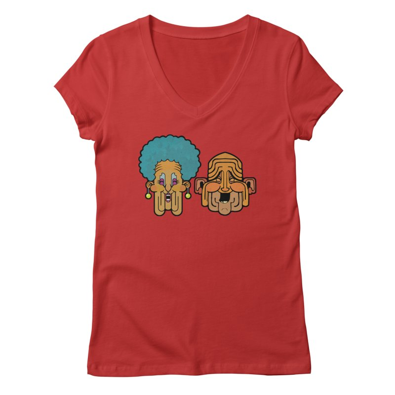 Old Folk/ tees and sweaters Women's Regular V-Neck by CDFBstuff