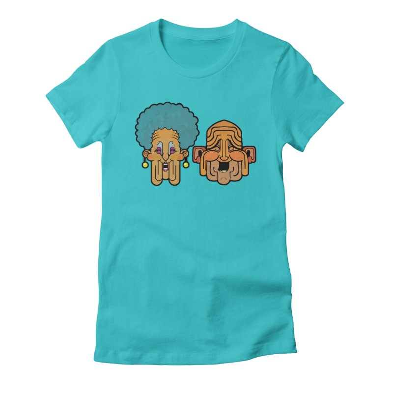 Old Folk/ tees and sweaters Women's Fitted T-Shirt by CDFBstuff