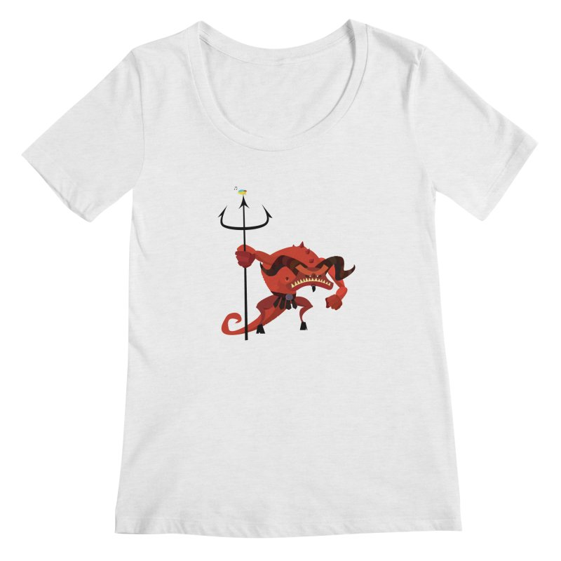 Bad Day/ tees and sweaters (light colours) Women's Regular Scoop Neck by CDFBstuff