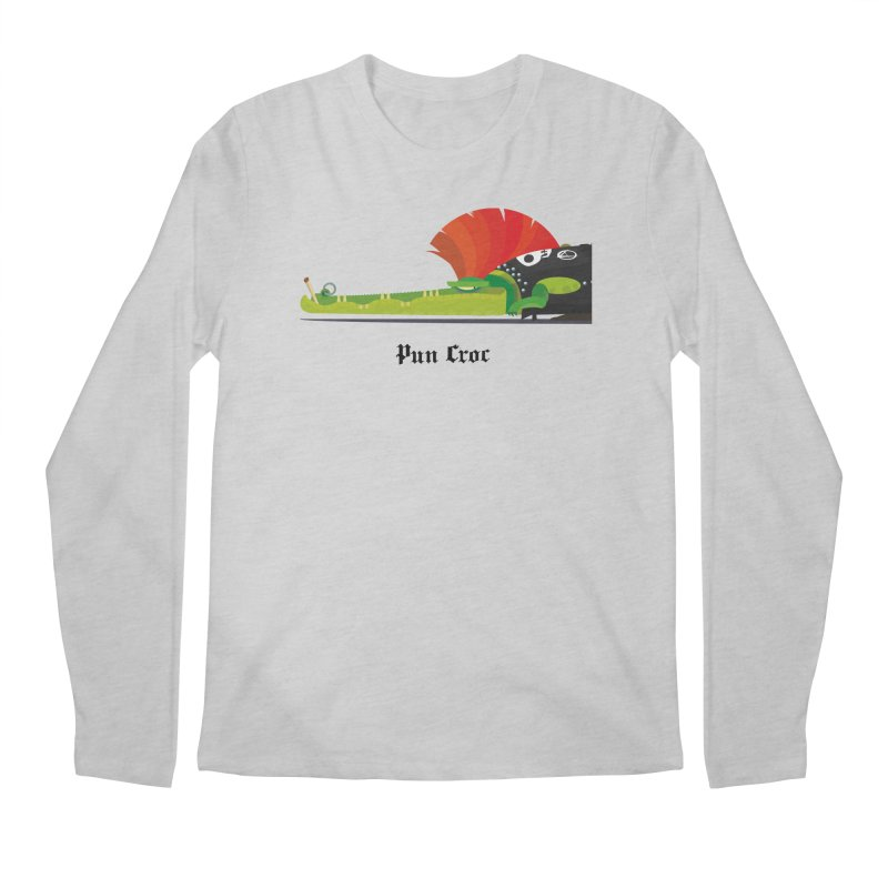 Pun Croc/ tees and sweaters (light colours) Men's Regular Longsleeve T-Shirt by CDFBstuff
