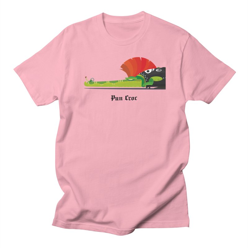 Pun Croc/ tees and sweaters (light colours) Men's Regular T-Shirt by CDFBstuff