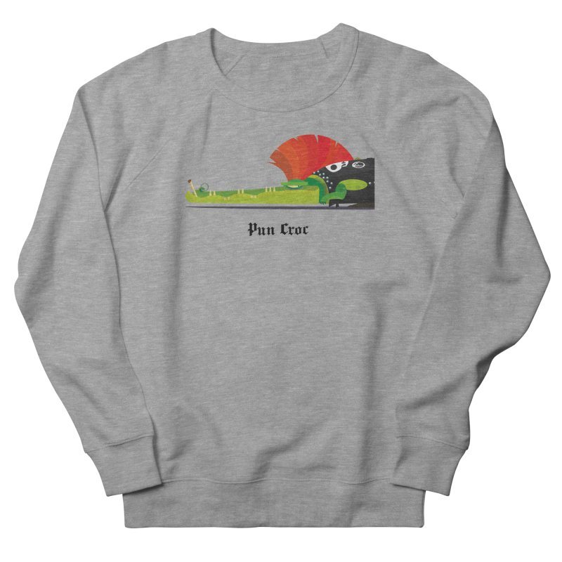 Pun Croc/ tees and sweaters (light colours) Women's French Terry Sweatshirt by CDFBstuff