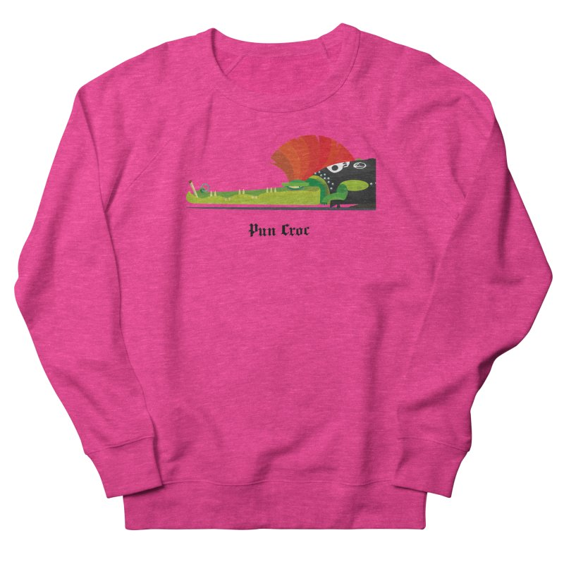 Pun Croc/ tees and sweaters (light colours) Men's French Terry Sweatshirt by CDFBstuff