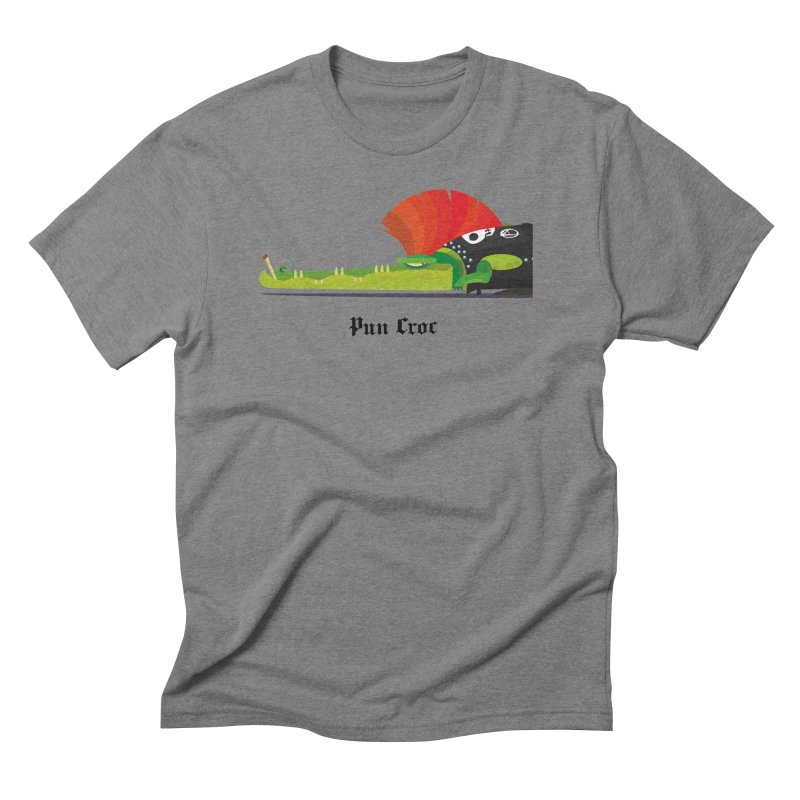Pun Croc/ tees and sweaters (light colours) Men's Triblend T-Shirt by CDFBstuff