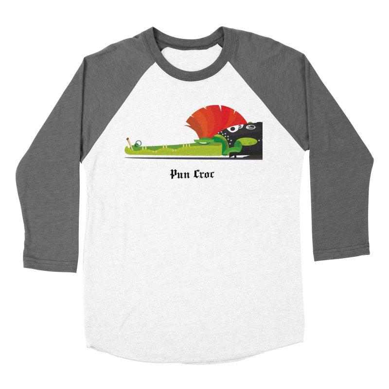 Pun Croc/ tees and sweaters (light colours) Women's Baseball Triblend Longsleeve T-Shirt by CDFBstuff