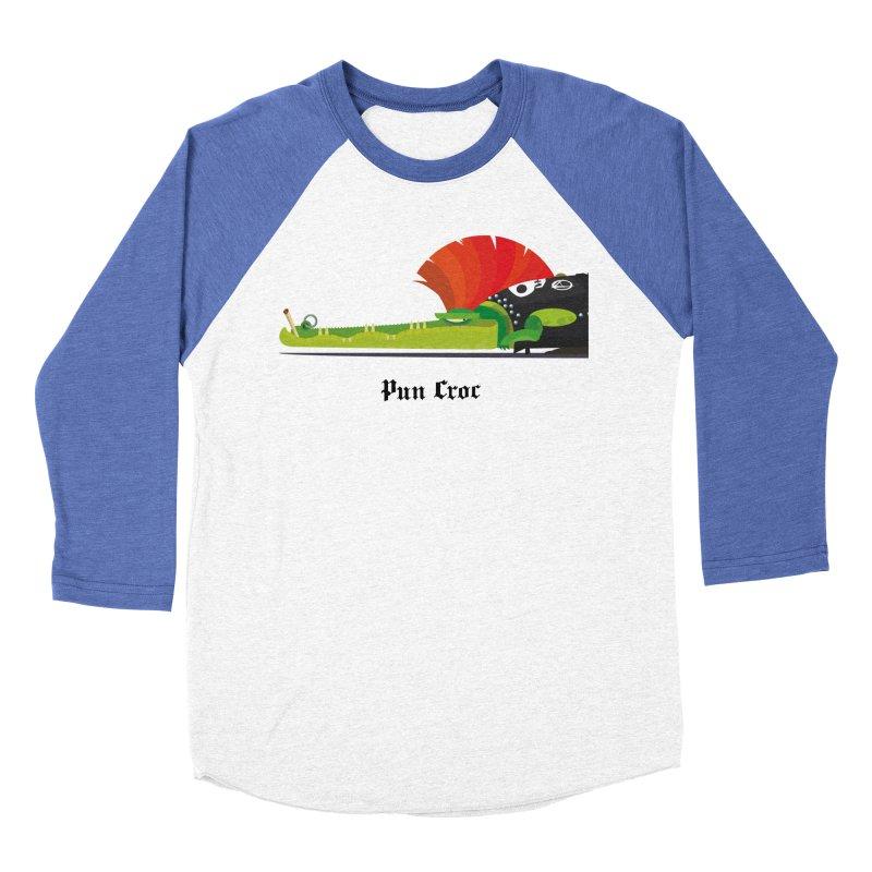 Pun Croc/ tees and sweaters (light colours) Men's Baseball Triblend Longsleeve T-Shirt by CDFBstuff