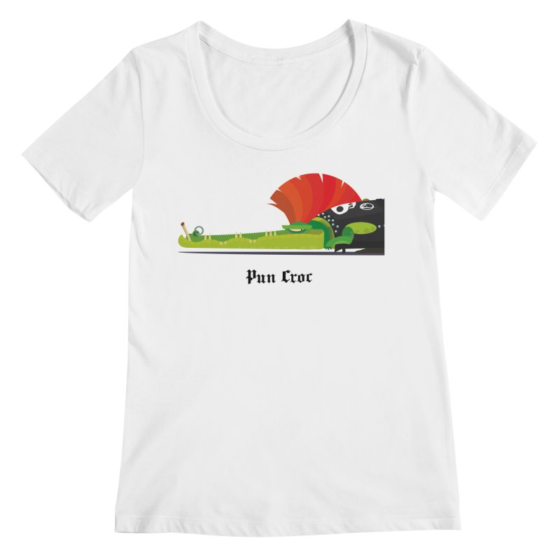 Pun Croc/ tees and sweaters (light colours) Women's Regular Scoop Neck by CDFBstuff