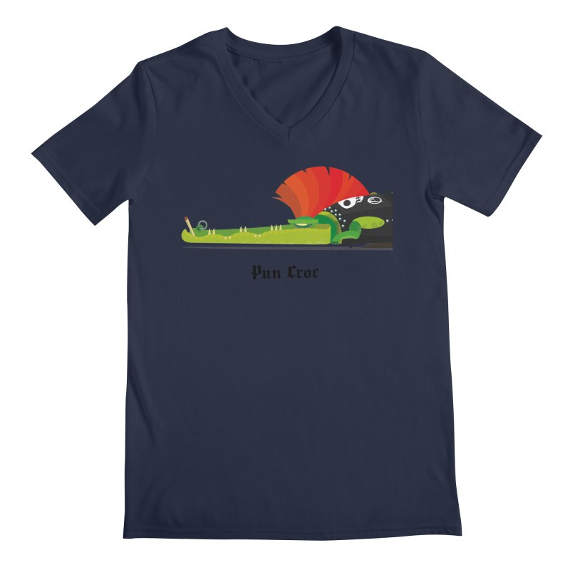 Pun Croc/ tees and sweaters (light colours) Men's Regular V-Neck by CDFBstuff