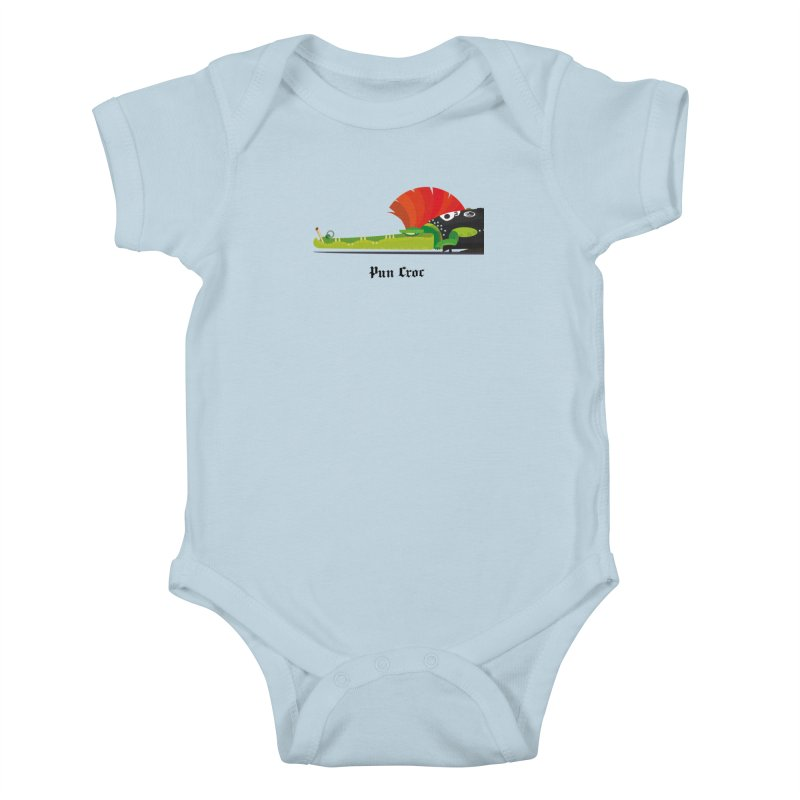 Pun Croc/ tees and sweaters (light colours) Kids Baby Bodysuit by CDFBstuff