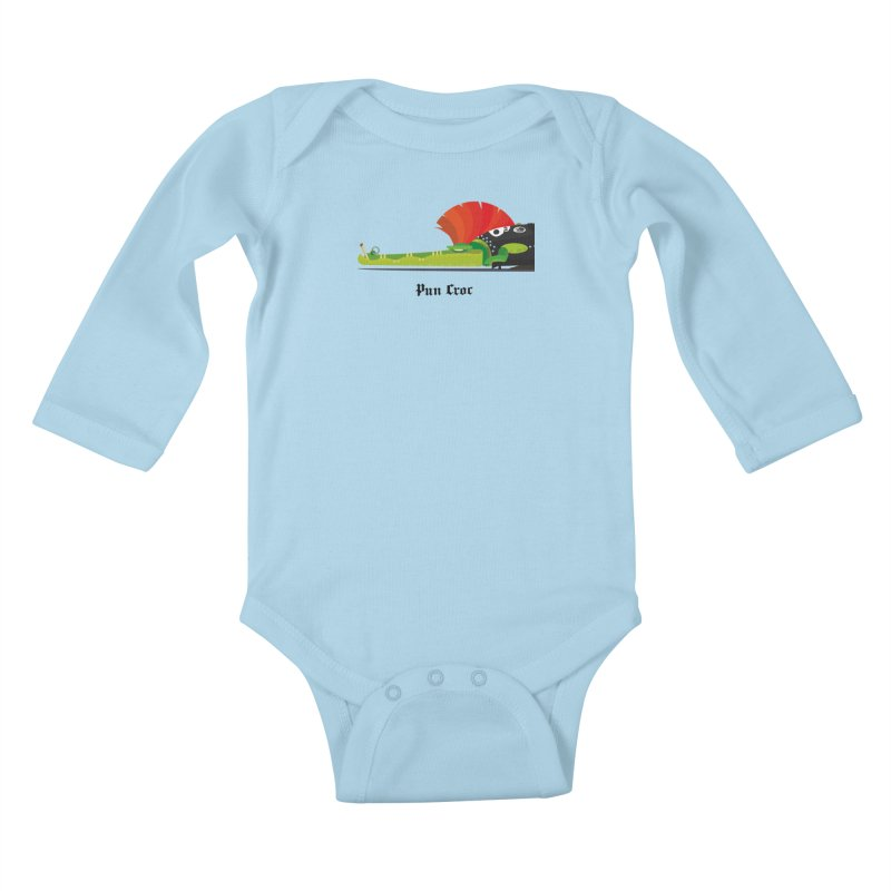 Pun Croc/ tees and sweaters (light colours) Kids Baby Longsleeve Bodysuit by CDFBstuff