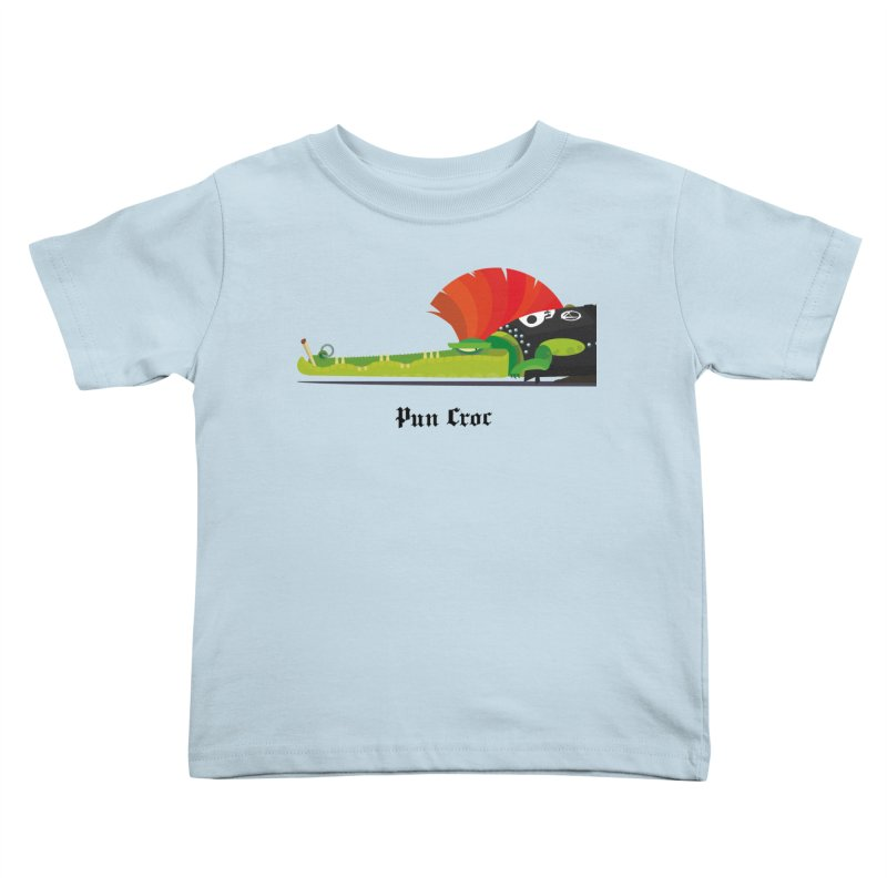 Pun Croc/ tees and sweaters (light colours) Kids Toddler T-Shirt by CDFBstuff