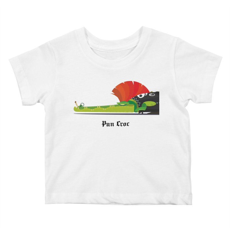 Pun Croc/ tees and sweaters (light colours) Kids Baby T-Shirt by CDFBstuff