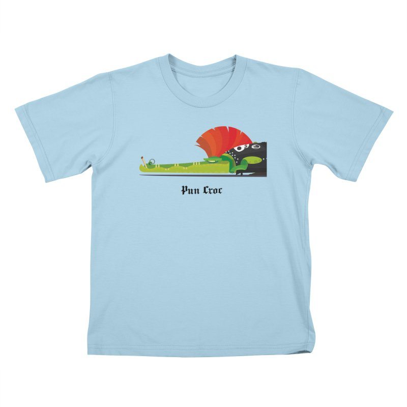 Pun Croc/ tees and sweaters (light colours) Kids T-Shirt by CDFBstuff