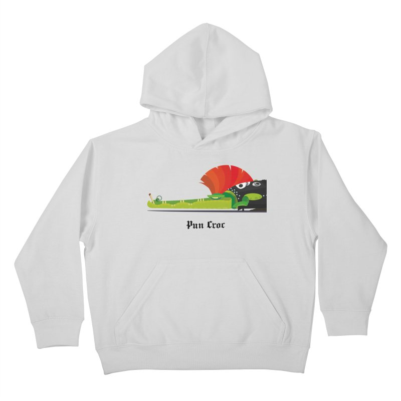 Pun Croc/ tees and sweaters (light colours) Kids Pullover Hoody by CDFBstuff