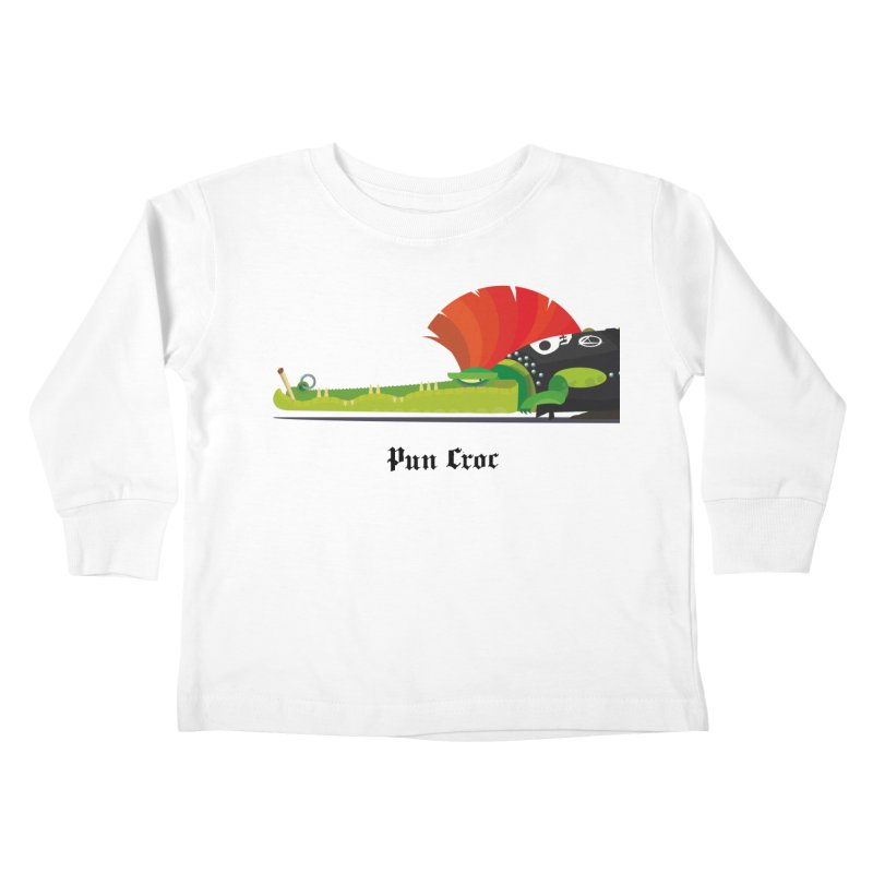 Pun Croc/ tees and sweaters (light colours) Kids Toddler Longsleeve T-Shirt by CDFBstuff