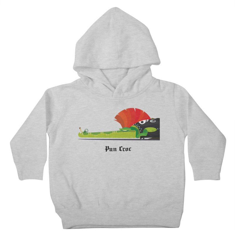 Pun Croc/ tees and sweaters (light colours) Kids Toddler Pullover Hoody by CDFBstuff