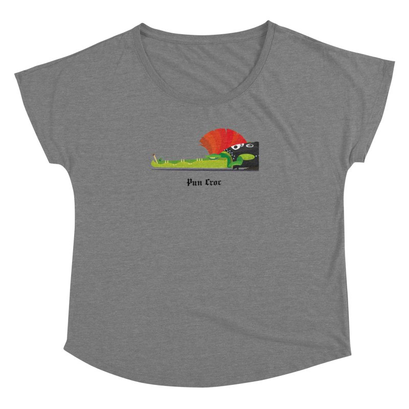 Pun Croc/ tees and sweaters (light colours) Women's Dolman Scoop Neck by CDFBstuff
