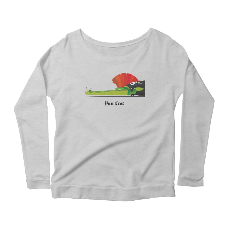 Pun Croc/ tees and sweaters (light colours) Women's Scoop Neck Longsleeve T-Shirt by CDFBstuff