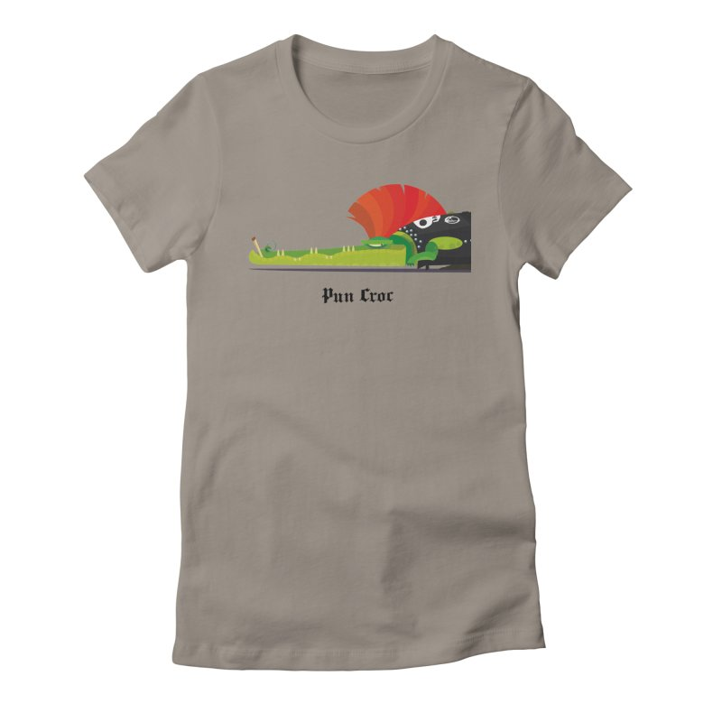 Pun Croc/ tees and sweaters (light colours) Women's Fitted T-Shirt by CDFBstuff
