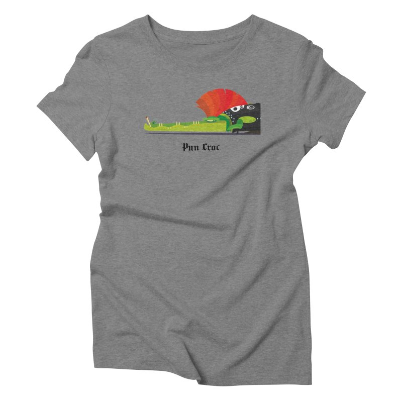 Pun Croc/ tees and sweaters (light colours) Women's Triblend T-Shirt by CDFBstuff