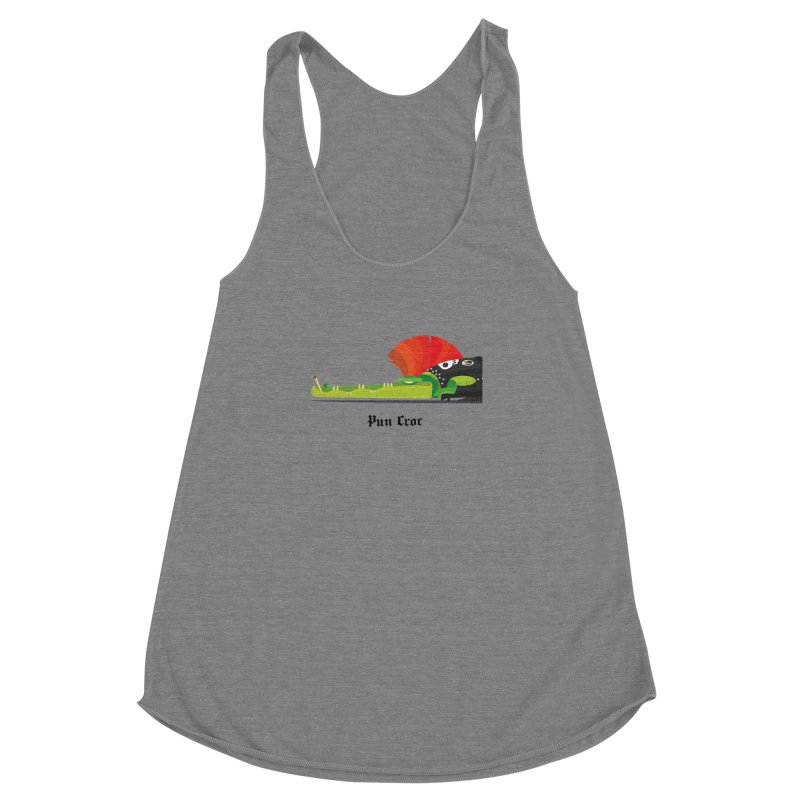 Pun Croc/ tees and sweaters (light colours) Women's Racerback Triblend Tank by CDFBstuff