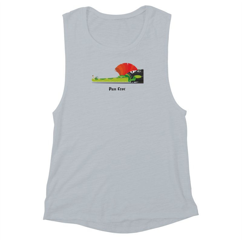 Pun Croc/ tees and sweaters (light colours) Women's Muscle Tank by CDFBstuff