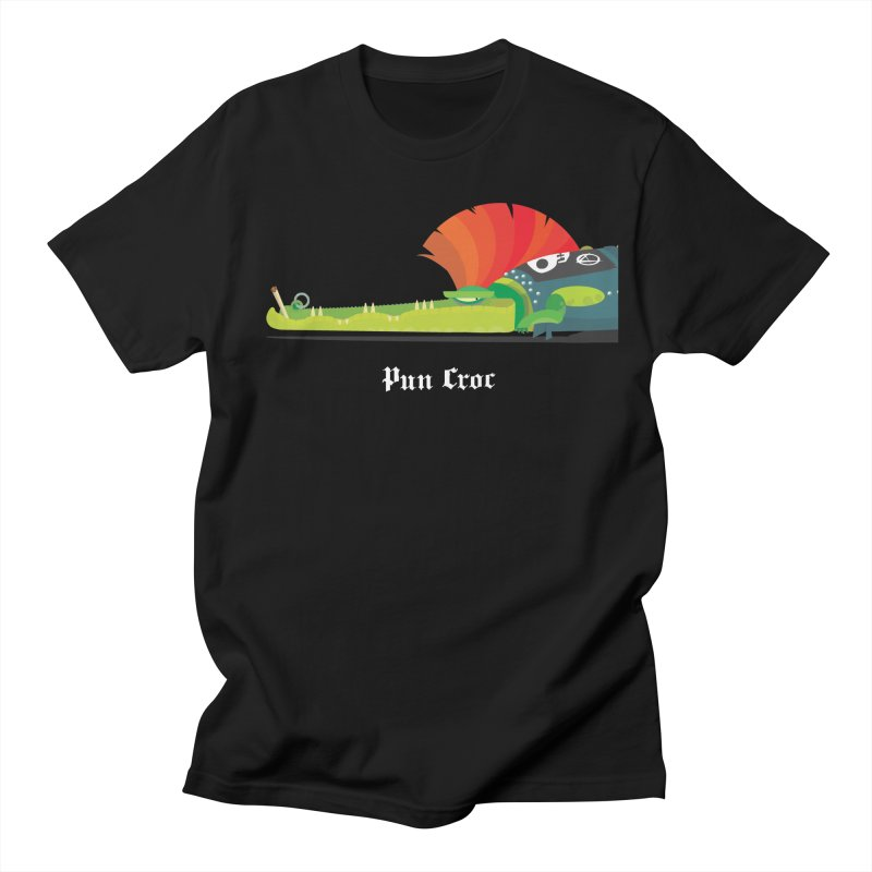 Pun Croc/ tees and sweaters (dark colours) Men's Regular T-Shirt by CDFBstuff