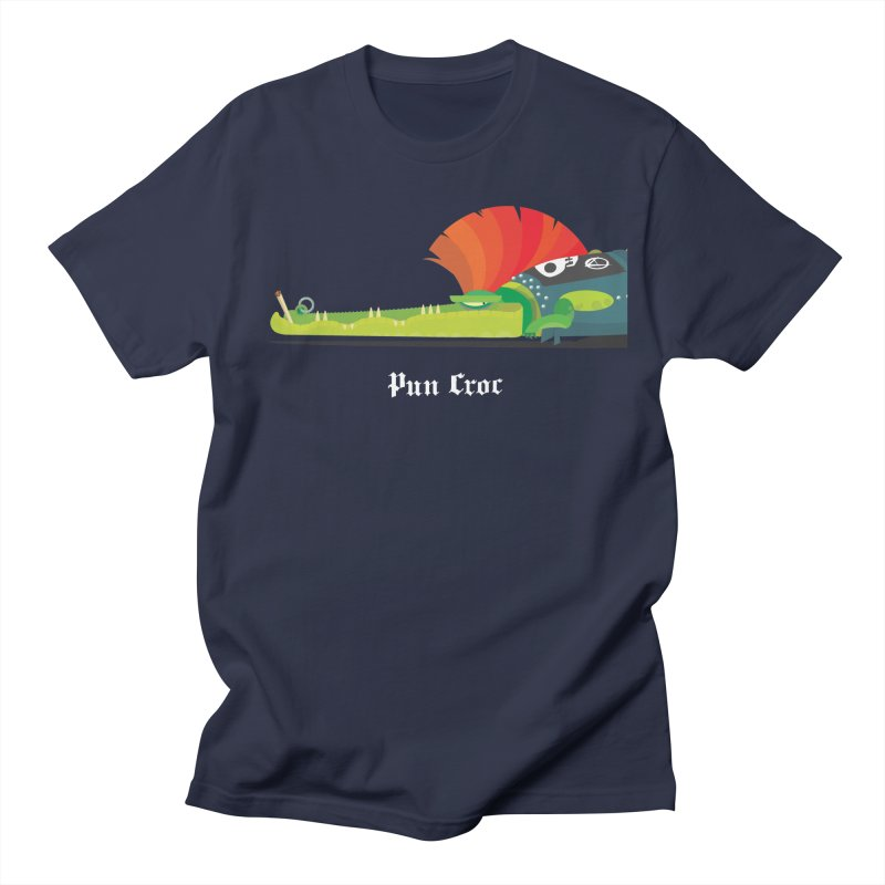Pun Croc/ tees and sweaters (dark colours) Men's Regular T-Shirt by CDFBstuff