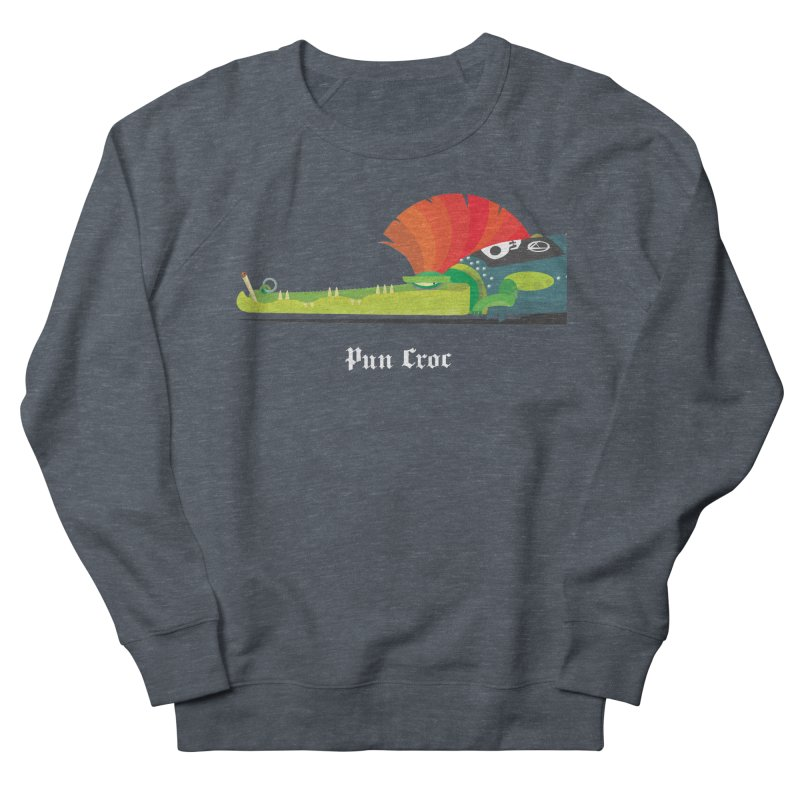 Pun Croc/ tees and sweaters (dark colours) Women's French Terry Sweatshirt by CDFBstuff