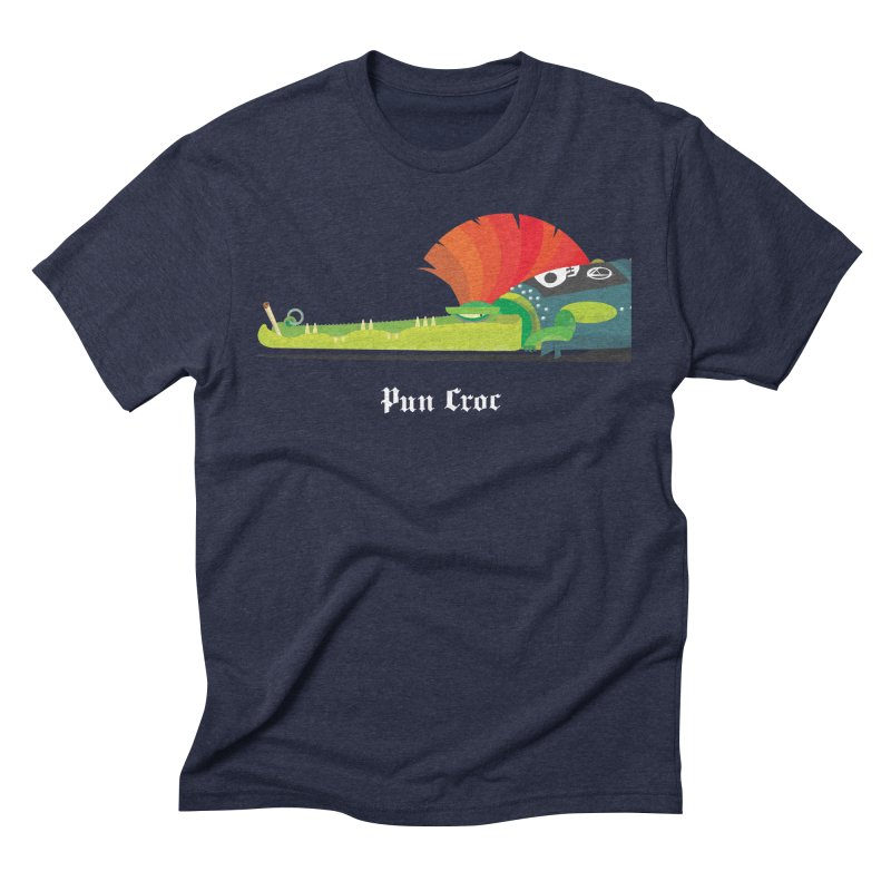 Pun Croc/ tees and sweaters (dark colours) in Men's Triblend T-Shirt Navy by CDFBstuff