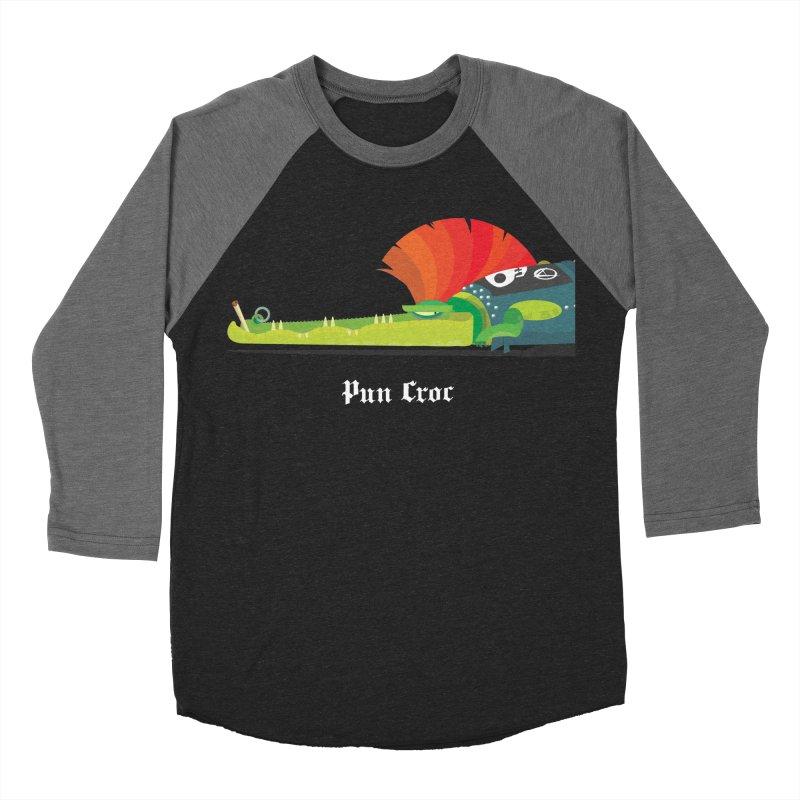 Pun Croc/ tees and sweaters (dark colours) Men's Baseball Triblend Longsleeve T-Shirt by CDFBstuff