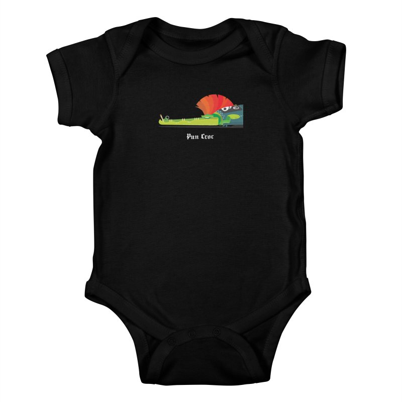 Pun Croc/ tees and sweaters (dark colours) Kids Baby Bodysuit by CDFBstuff