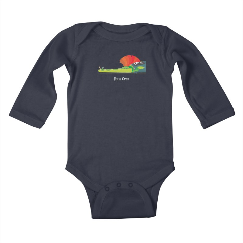 Pun Croc/ tees and sweaters (dark colours) Kids Baby Longsleeve Bodysuit by CDFBstuff