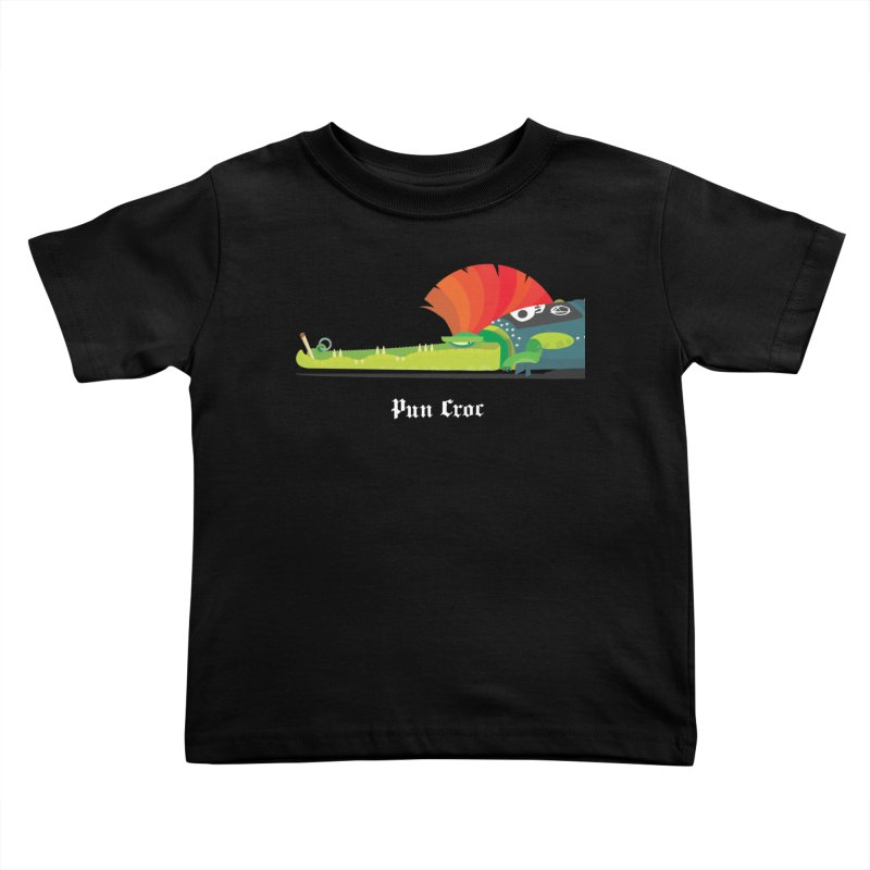 Pun Croc/ tees and sweaters (dark colours) Kids Toddler T-Shirt by CDFBstuff