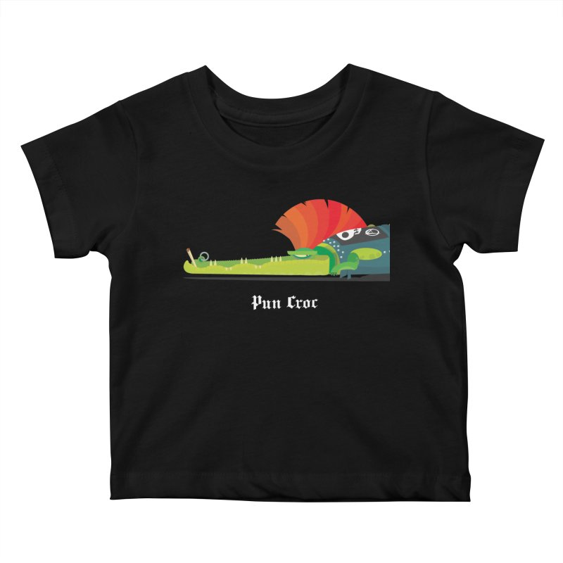 Pun Croc/ tees and sweaters (dark colours) Kids Baby T-Shirt by CDFBstuff