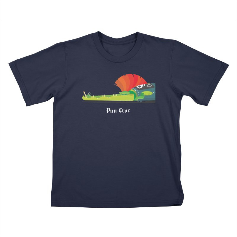 Pun Croc/ tees and sweaters (dark colours) Kids T-Shirt by CDFBstuff