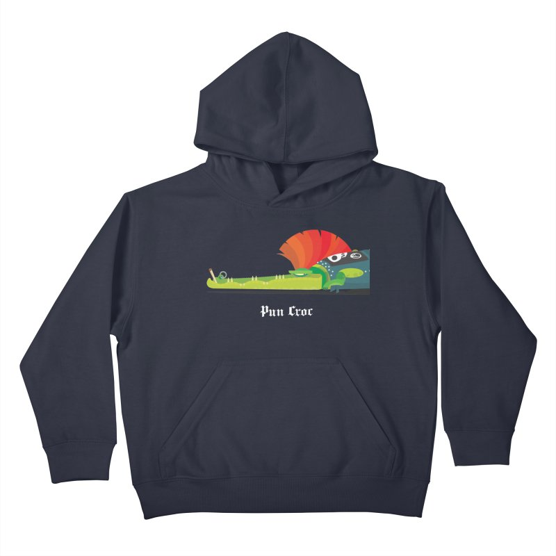 Pun Croc/ tees and sweaters (dark colours) Kids Pullover Hoody by CDFBstuff