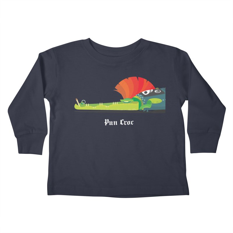 Pun Croc/ tees and sweaters (dark colours) Kids Toddler Longsleeve T-Shirt by CDFBstuff