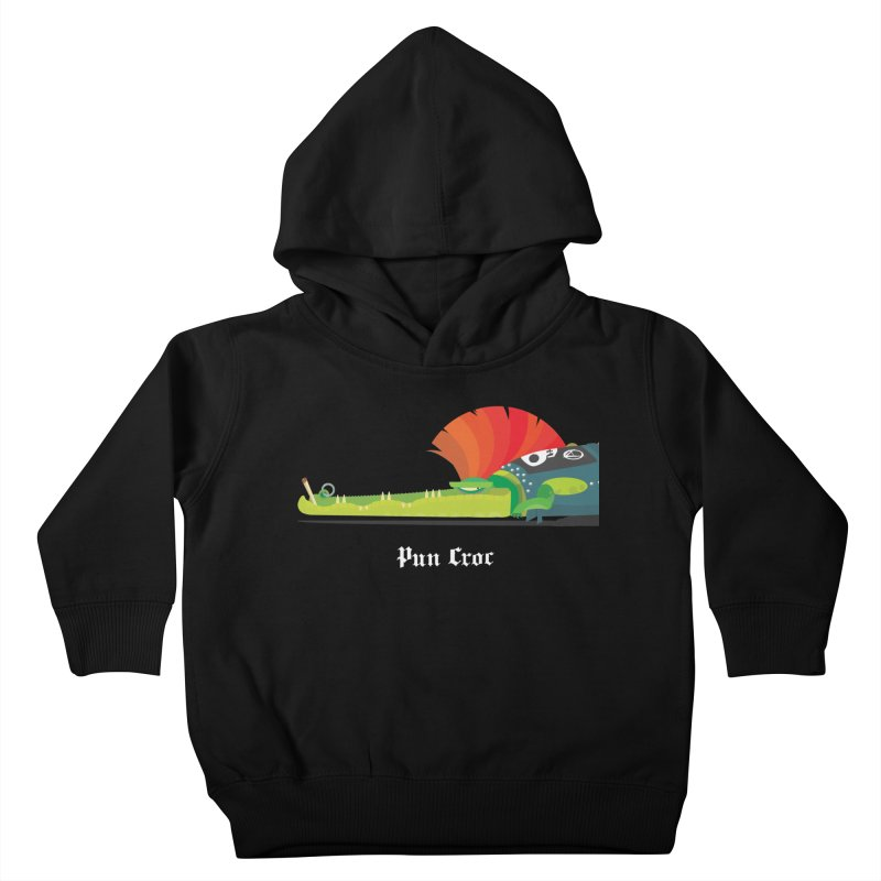 Pun Croc/ tees and sweaters (dark colours) Kids Toddler Pullover Hoody by CDFBstuff