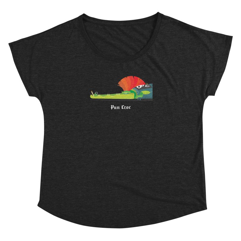 Pun Croc/ tees and sweaters (dark colours) Women's Dolman Scoop Neck by CDFBstuff