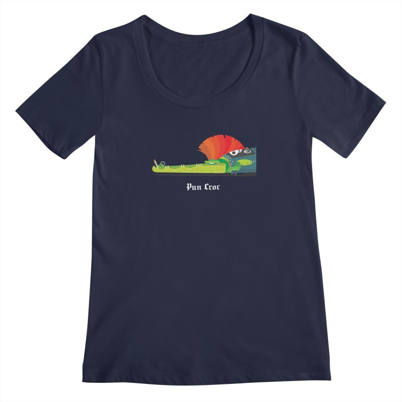 Pun Croc/ tees and sweaters (dark colours) Women's Regular Scoop Neck by CDFBstuff