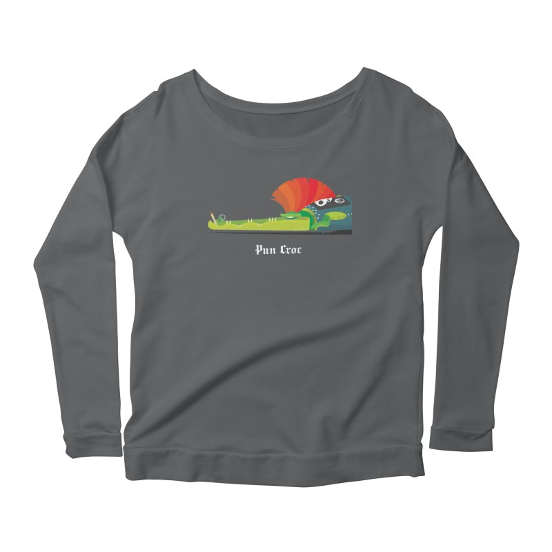 Pun Croc/ tees and sweaters (dark colours) Women's Scoop Neck Longsleeve T-Shirt by CDFBstuff