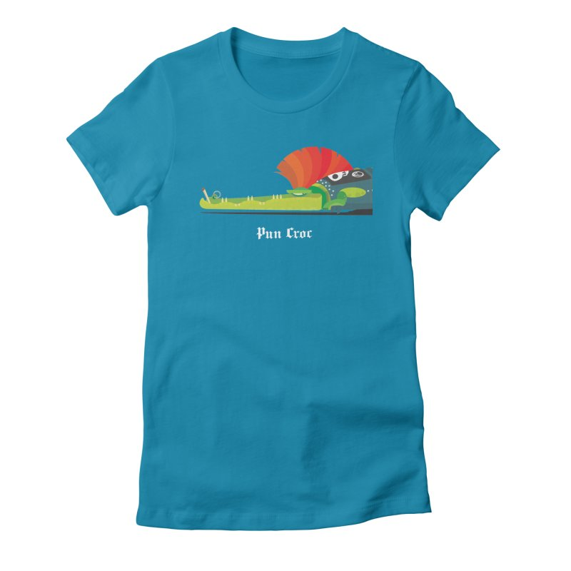 Pun Croc/ tees and sweaters (dark colours) Women's Fitted T-Shirt by CDFBstuff