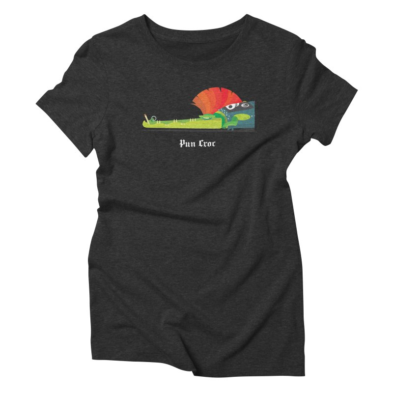 Pun Croc/ tees and sweaters (dark colours) Women's Triblend T-Shirt by CDFBstuff
