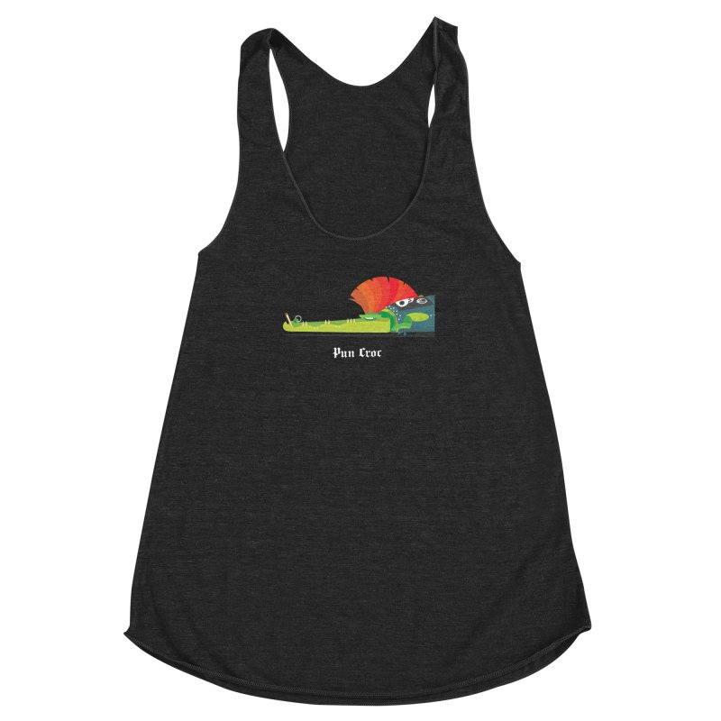Pun Croc/ tees and sweaters (dark colours) Women's Racerback Triblend Tank by CDFBstuff