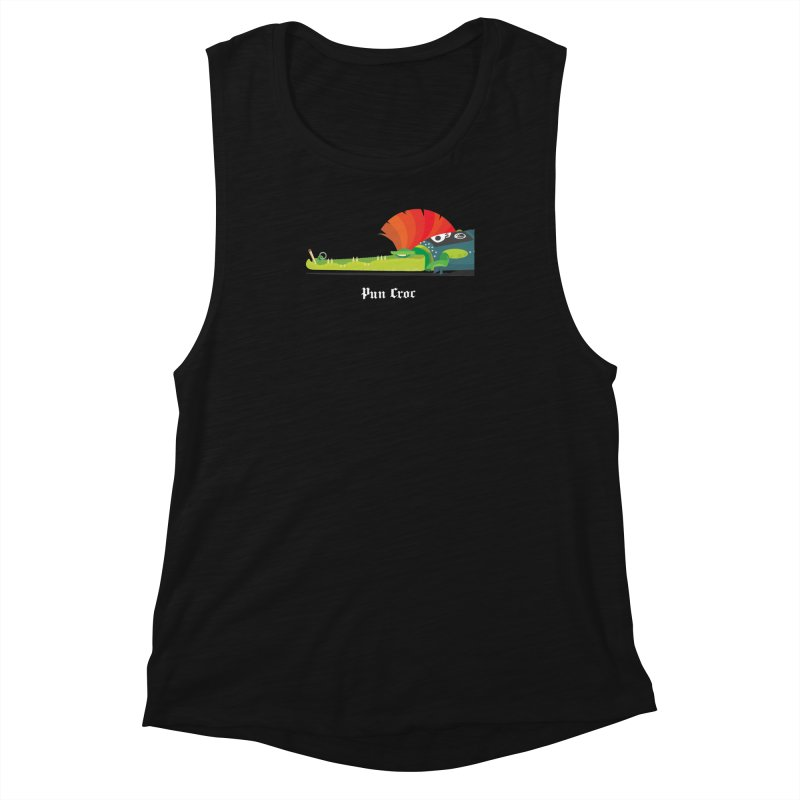 Pun Croc/ tees and sweaters (dark colours) Women's Muscle Tank by CDFBstuff