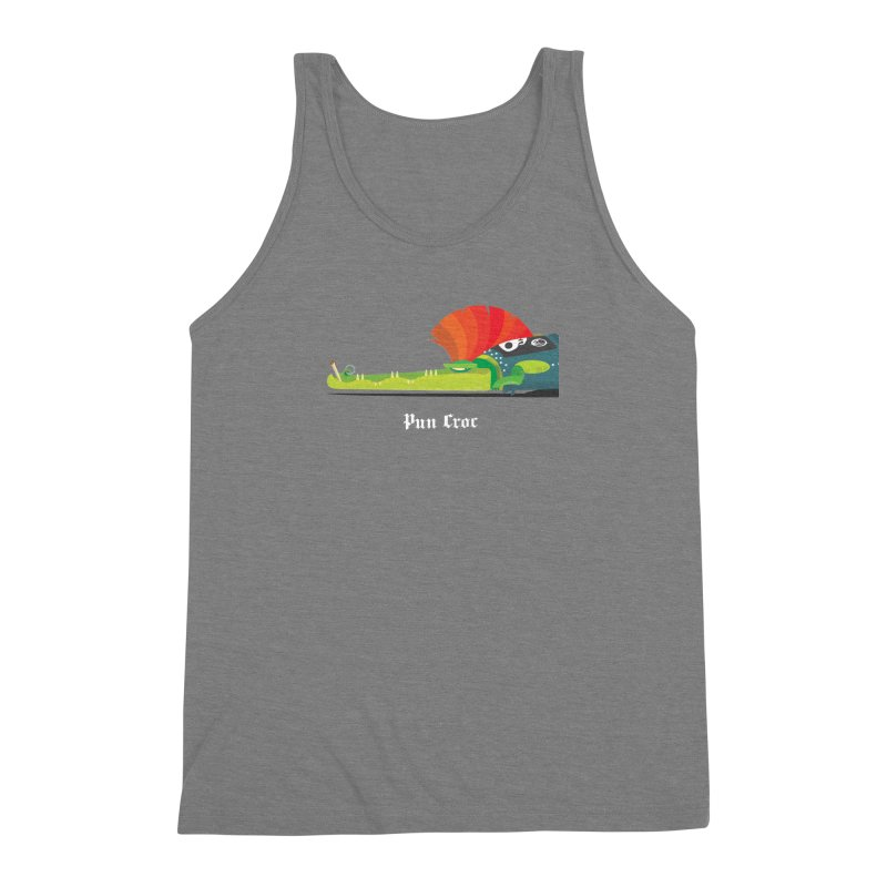 Pun Croc/ tees and sweaters (dark colours) Men's Triblend Tank by CDFBstuff