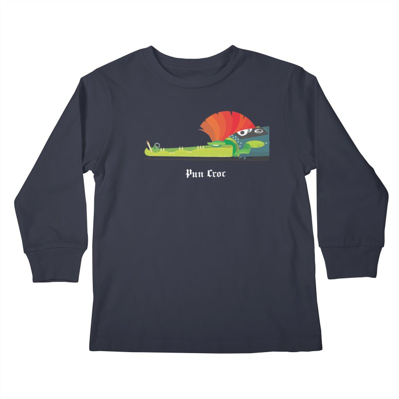Pun Croc/ tees and sweaters (dark colours) Kids Longsleeve T-Shirt by CDFBstuff