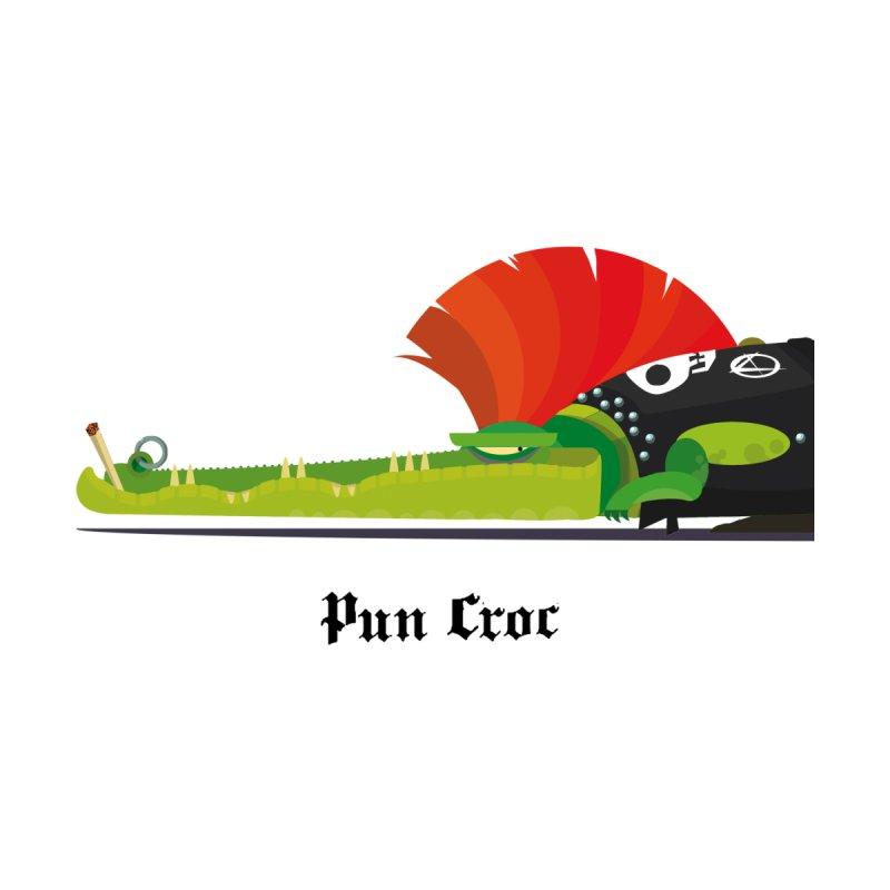 Pun Croc/ zip-up hoody (light colours) Men's Zip-Up Hoody by CDFBstuff